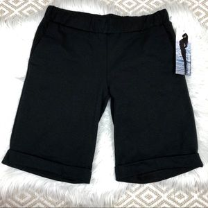American Apparel Black Jersey Pull on Shorts New M